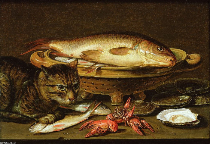 Clara+Peeters-A+Still+Life+With+Carp+In+A+Ceramic+Colander,+Oysters,+Crayfish,+R...e+Ledge+Beneath (700x478, 433Kb)