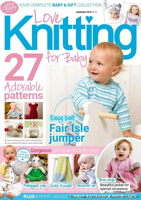 Love Knitting for Baby — September 2018.