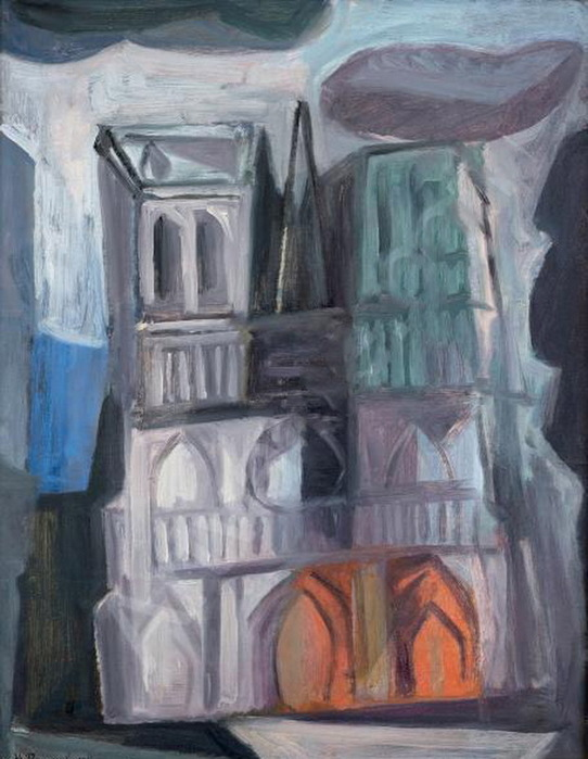 La cathédrale Notre-Dame. Oil on paper laid down on canvas - копия (542x700, 108Kb)