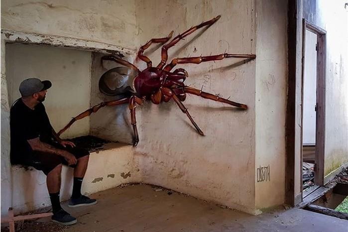 Топ-20 невероятно реалистичных граффити Серхио Одейта, которые повергнут вас в шок