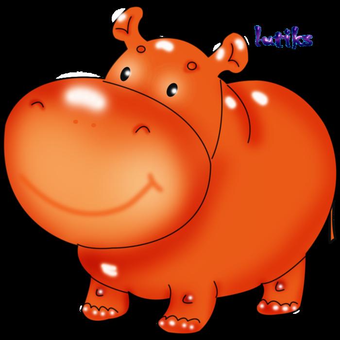 Бегемот картинка нарисованная для детей