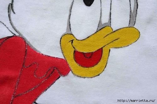 Рисунок на футболке акриловыми красками (11) (500x333, 125Kb)