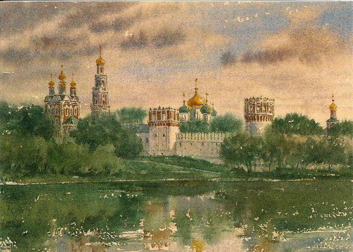 Московские открытки, оформление моих картинок