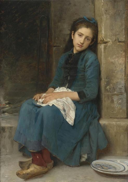 1904_Задумчивая девушка (Невинность) (Pensive Girl (Innocence))_116.8 х 82.6_х.,м._Частное собрание (492x700, 224Kb)