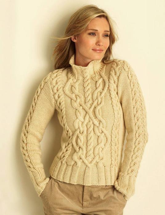 Вязание спицами для женщин свитера с аранами спицами