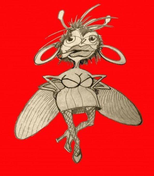 Картинка мухи прикольное