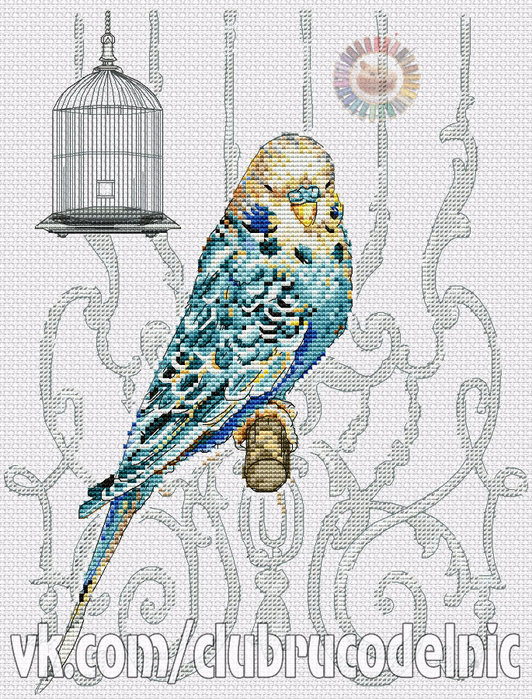 Bird in Cage (532x700, 527Kb)