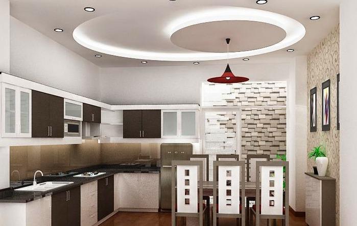 подвесные потолки из гипсокартона на кухню москва