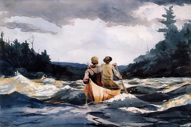Canoe in the Rapids,1897 (644x431, 318Kb)