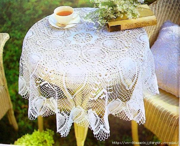 вязание крючком ажурных скатертей