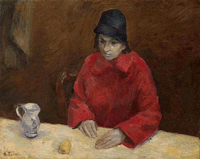 Woman in Red. Portrait of Lyubov Georgievna Popesku (700x556, 409Kb)