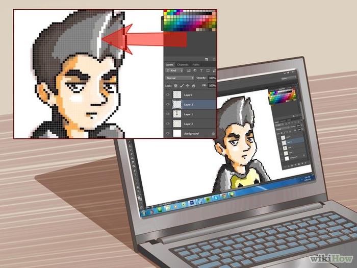 сделать пиксельную фотографию