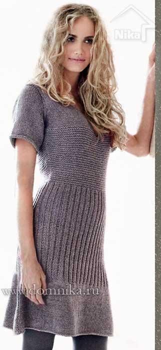 Вязание на спицах для женщин платья на зиму