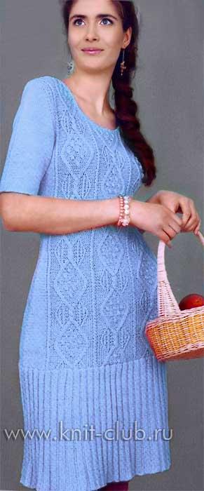 Связать платье спицами со схемами для женщин