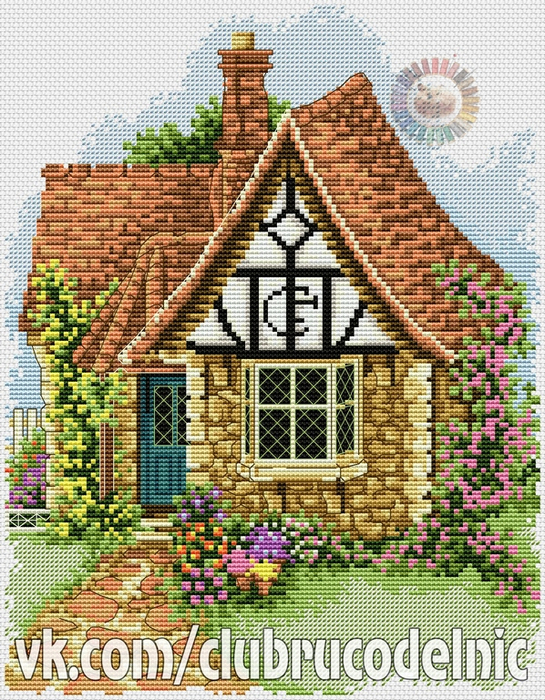 Flower Pots Cottage (545x700, 641Kb)