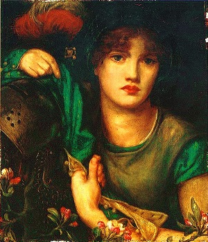 My Lady Greensleeves as depicted in an 1864 painting by Dante Gabriel Rossetti. (300x350, 74Kb)