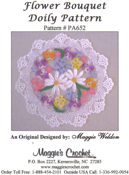 Flower Bouquet Doily 12.5 inch Maggies pic (515x700, 242Kb)