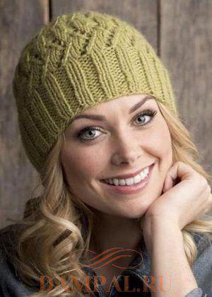вязаная женская шапка самое интересное в блогах