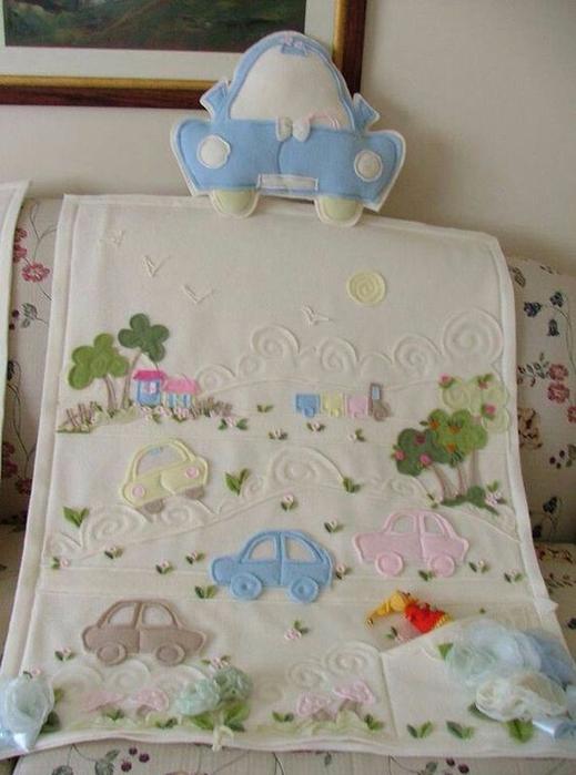 Замечательные идеи аппликаций на постельном для малыша