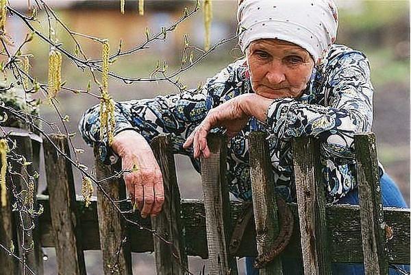 Вставил старушке в деревне