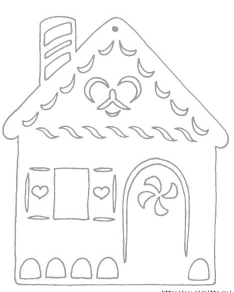 Вытынанки домики шаблоны на окна
