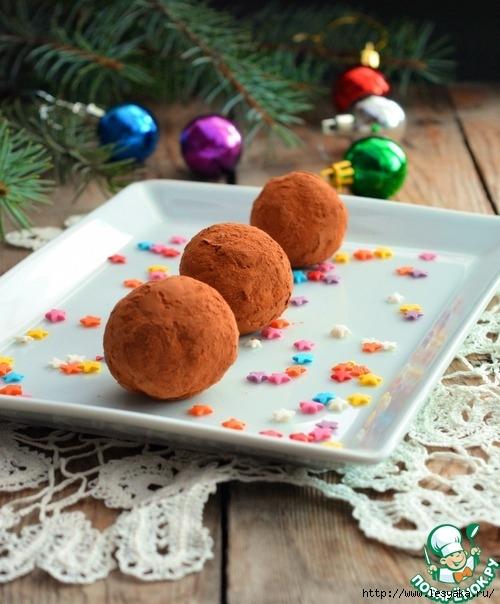 Пирожное картошка по-новогоднему