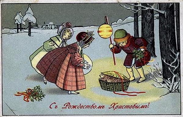 Новогодние открытки 19-20 века в россии