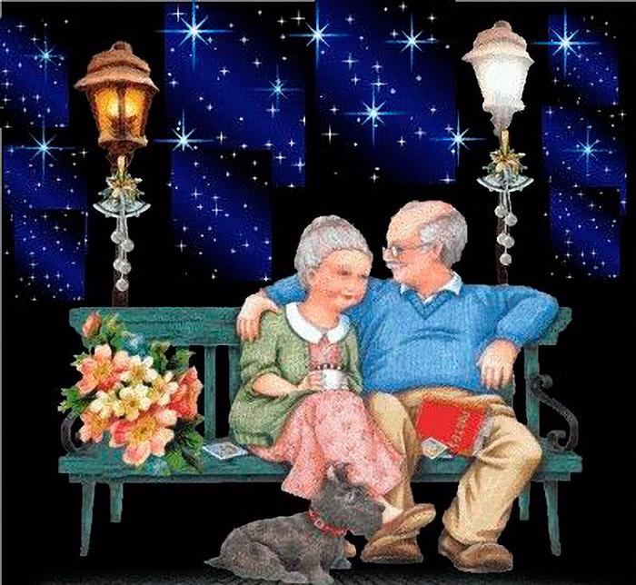 Картинки анимашки дед и бабка, расставание открытки всемирный