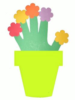 Открытка аппликация цветы в горшке своими руками