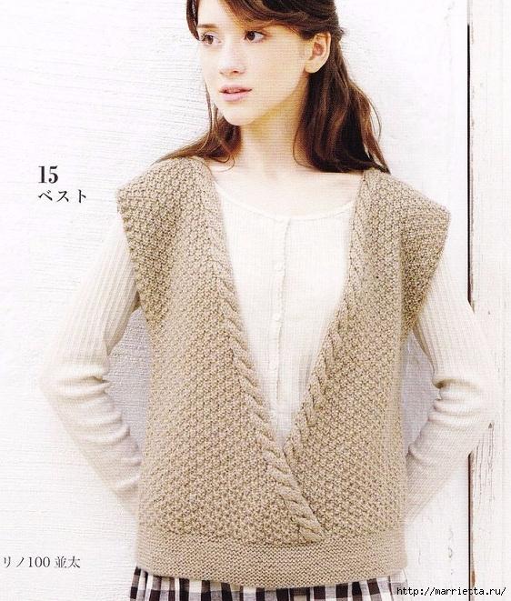 Вязание для девушек. 6 моделей из японского журнала (5) (562x661, 308Kb)