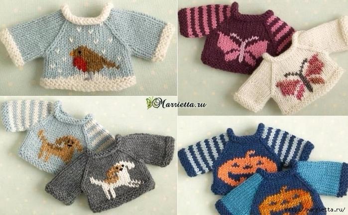 889130de9097 Вязание спицами свитеров для кукол. Схемы (6) (700x433, 260Kb) ...