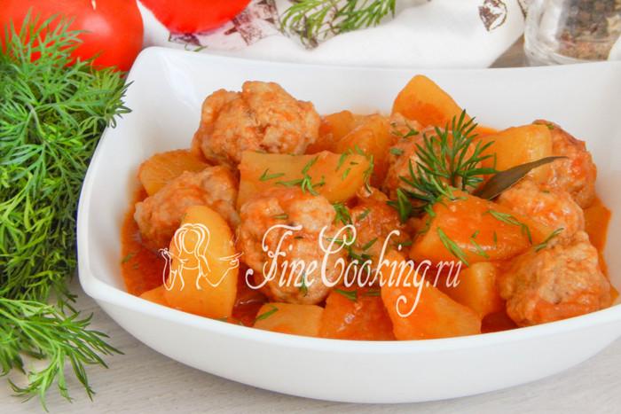 Соус картошка с мясом рецепт с томатом