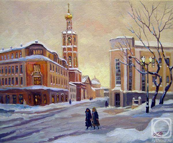 Москва. Петровка, Высоко-Петровский монастырь (Страстной бульвар) (600x496, 215Kb)