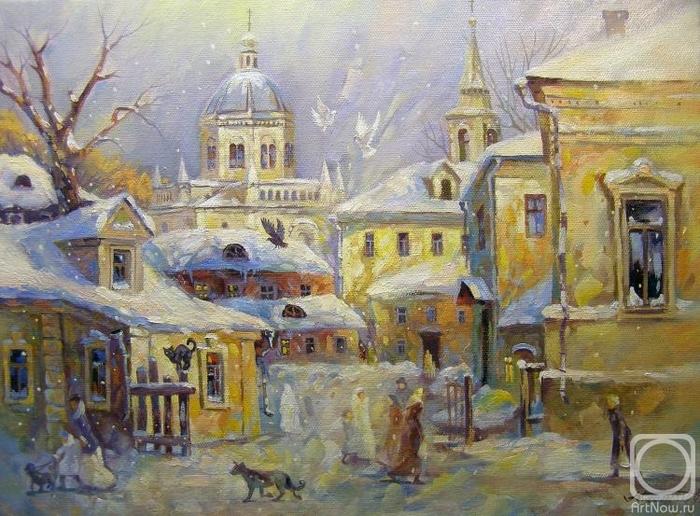 Москва. Подкопаевский переулок (700x516, 317Kb)