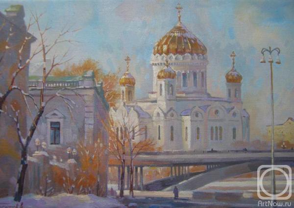 Москва. Храм Христа Спасителя, Софийская набережная (600x425, 123Kb)