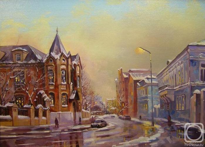 Москва. Гороховский переулок (700x503, 250Kb)