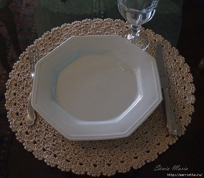 Сервируем стол круглыми салфетками. Схема (3) (698x611, 290Kb)