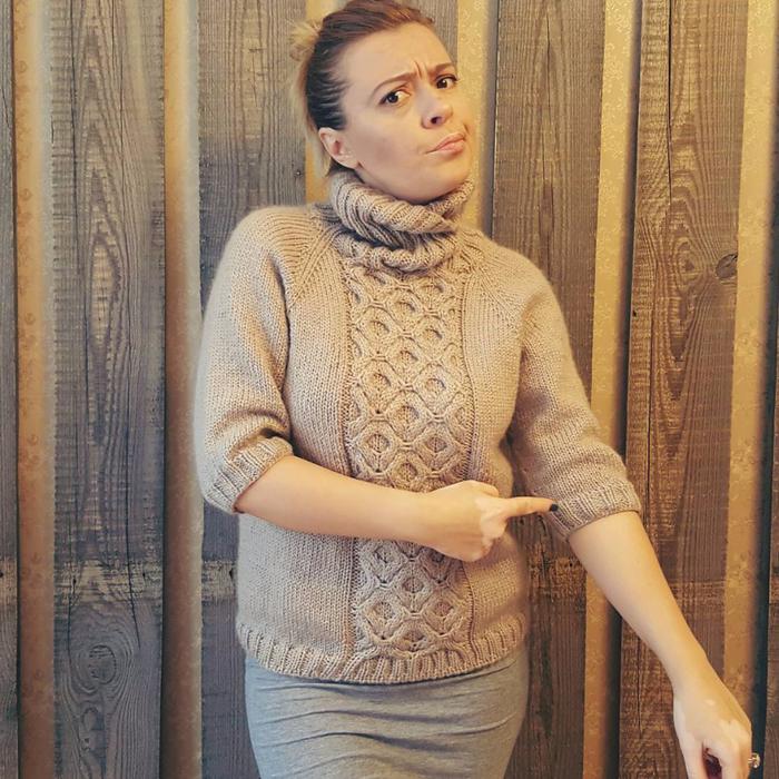 свитер регланом сверху с ростком 3 этапа узор обсуждение на