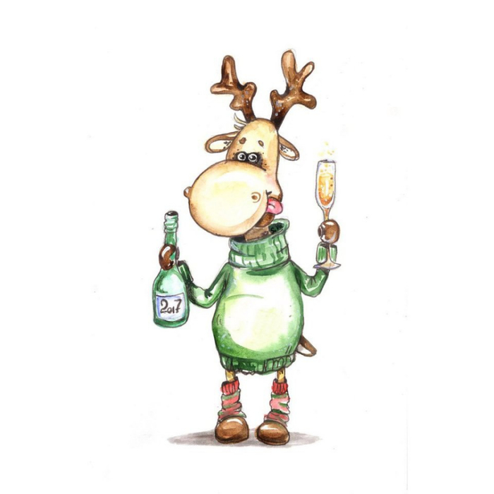 Леночка, рисунок прикольного оленя