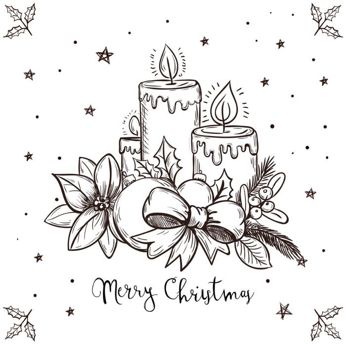 Рождественские рисунки открытки, день