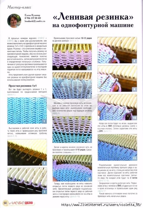 машинное вязание мастер классы от журнала любо дело подборка 3