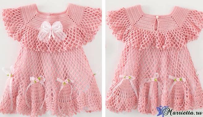 Нарядное платьице крючком для маленькой принцессы (7) (657x380, 326Kb)