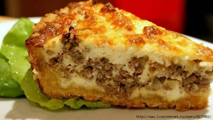 Пирог с фаршем простой вкусный