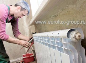 Замена батарей отопления от компании «Евролюкс»