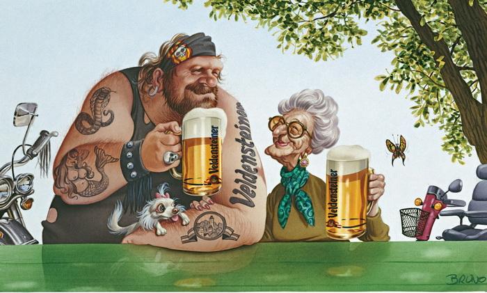 Смешные рисунки на тему пива, николая