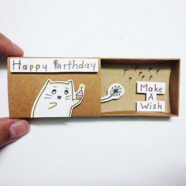 Сделать любимому, открытка из спичечных коробков