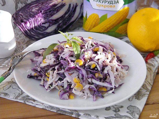 Салат из консервир кукурузы