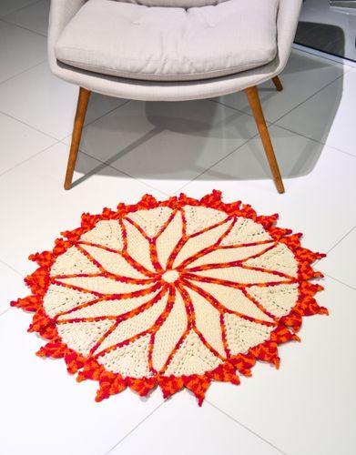 Вязание крючком круглого двухцветного коврика (3) (391x500, 166Kb)