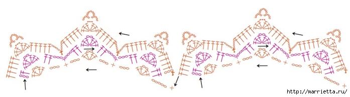 Вязание крючком круглого двухцветного коврика (5) (700x193, 87Kb)