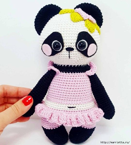 Вяжем крючком игрушку «Панда Нелли» (7) (541x597, 172Kb)